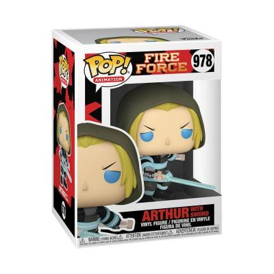 Fire force bobble head pop n 978 arthur w sword