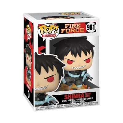 Fire force bobble head pop n 981 shinra w fire
