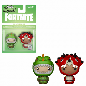 Fortnite 2 pint size heroes figures rex tricera ops 6cm