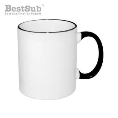 Fre pm mug blanc eco 330 ml avec anse noire avec boite sublimation transfert thermique 2272 2
