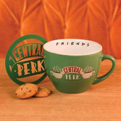 Friends central perk green mug a cappuccino 630ml