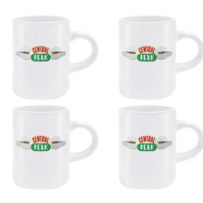 Friends central perk set de 4 mugs a expresso 125ml