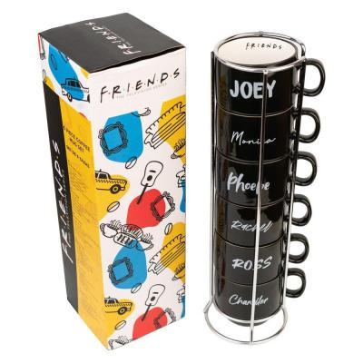 Friends characters set de 6 tasses a cafe