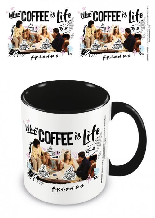 Friends coffee is life mug interieur colore 315ml