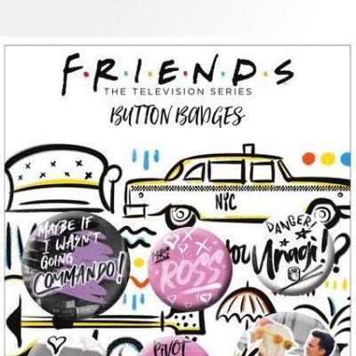Friends doodle pack de 5 badges