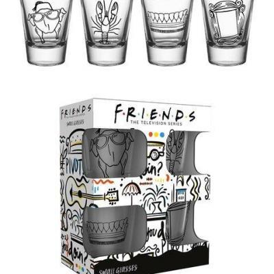 Friends doodle set de 4 verres a shot 1