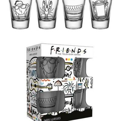 Friends doodle set de 4 verres a shot