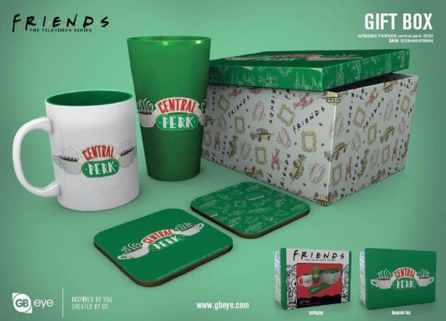 Friends gift box chope mug 2 dessous de verre central perk