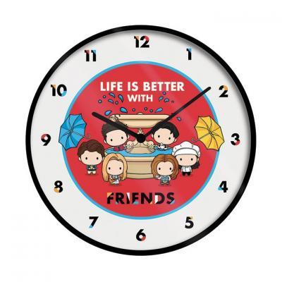 Friends life is better horloge en plastique diametre 25cm