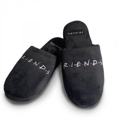Friends logo black pantoufles t38 41
