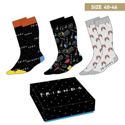 Friends pack de 3 paires de chaussettes p40 46