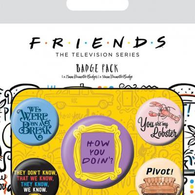 Friends pack de 5 badges quotes