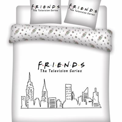 Friends parure de lit 200x200 friends 100 coton