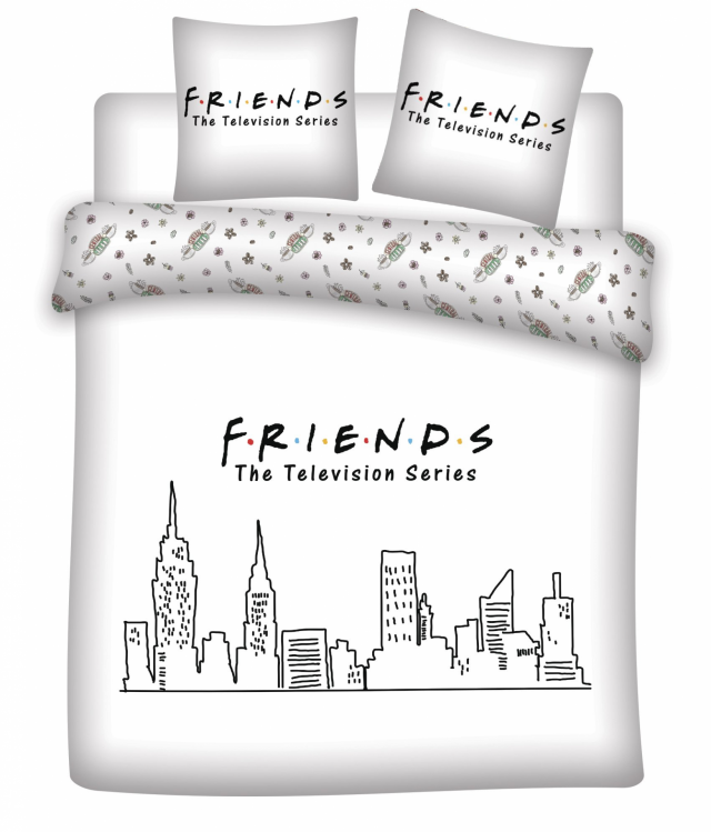 Friends parure de lit 200x200 friends 100 coton