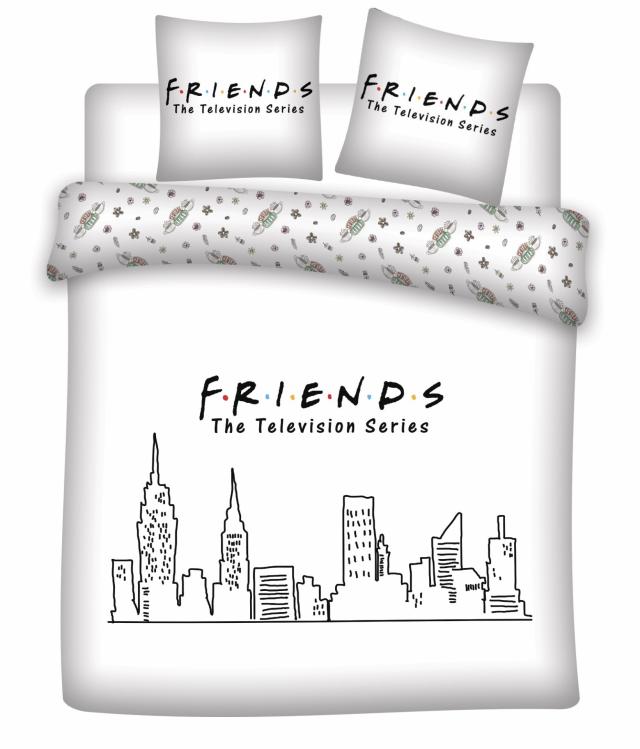 Friends parure de lit 240x220 friends 100 microfibre