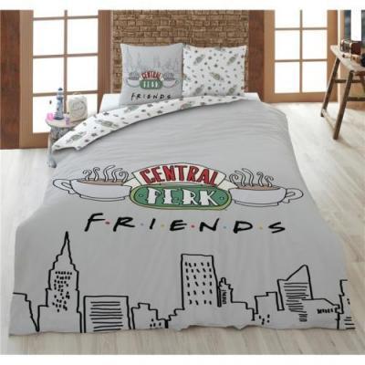 Friends parure de lit 240x220cm friends 100 coton
