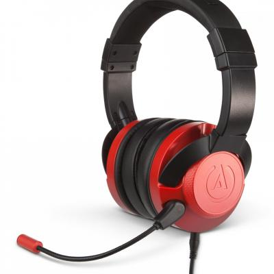 Fusion wired gaming headset crimson