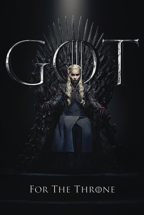 Game of thrones poster 61x91 daenerys for the throne