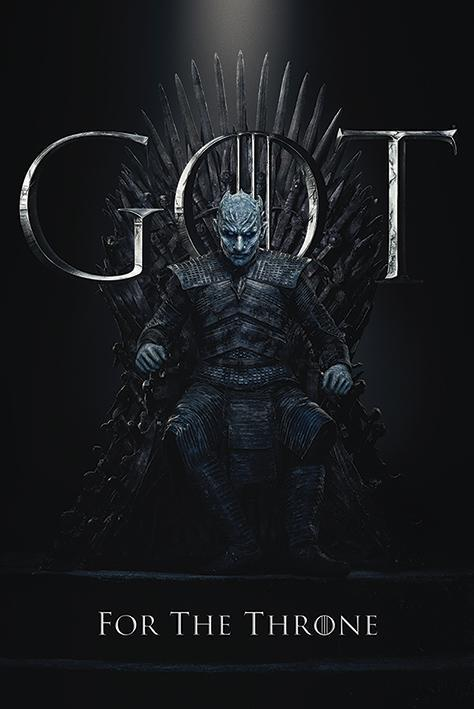Game of thrones poster 61x91 the night king for the throne