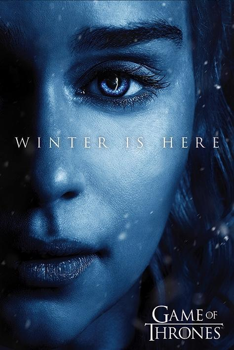 Game of thrones poster 61x91 winter is here daenerys