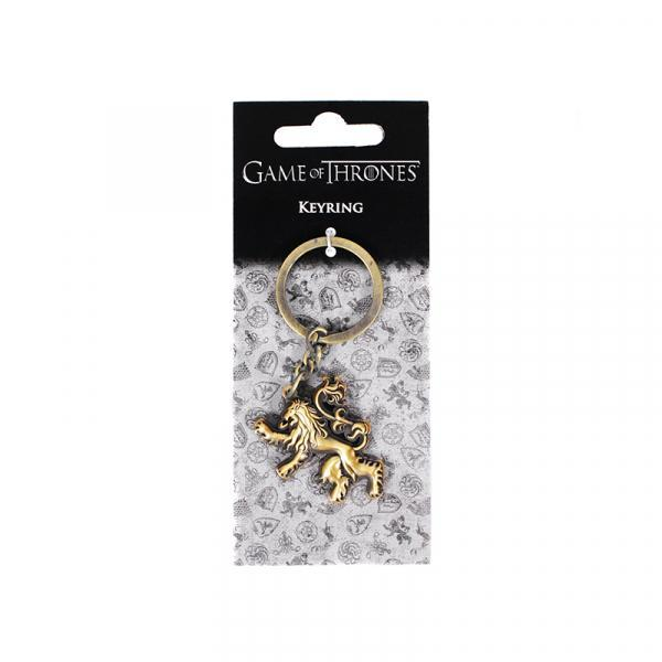 Game of thrones sculpted metal keyring lannister