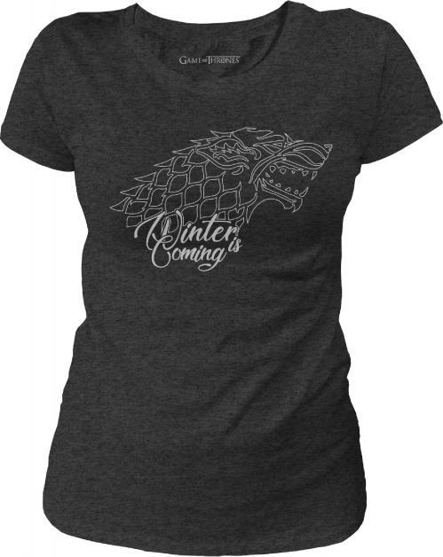 Game of thrones t shirt stark winter is coming girl