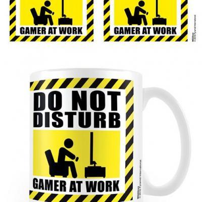 Gamer at work do not disturb mug 315ml