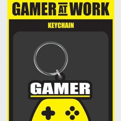 Gamer at work porte cles caoutchouc joypad