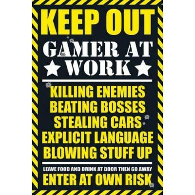 Gamers poster 61x91 gaming keep out