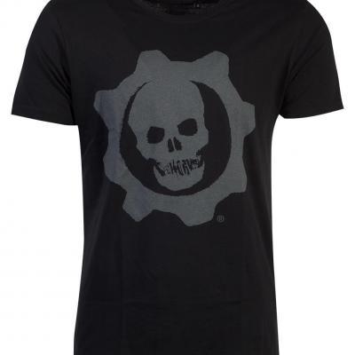 Gears of war t shirt homme skull badge
