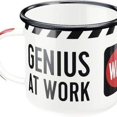 Genius at work mug emaille 360ml