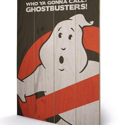 Ghostbusters logo impression sur bois 40x59cm