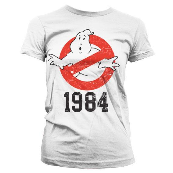 Ghostbusters t shirt 1984 girly white