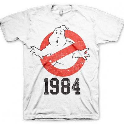 Ghostbusters t shirt 1984 white