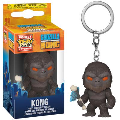 Godzilla vs kong pocket pop keychain kong w axe 1