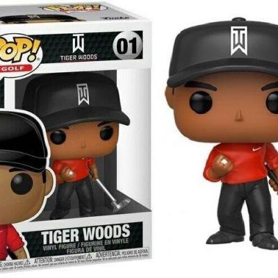 Golf bobble head pop n 01 tiger woods red shirt