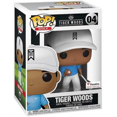 Golf bobble head pop n 04 tiger woods blue shirt sp edition