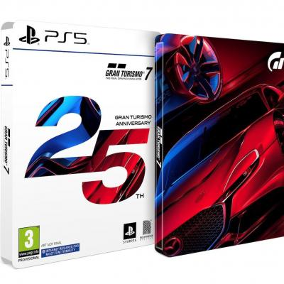 Gran turismo 7 25th anniversary edition incl ps5 disc and ps4 code