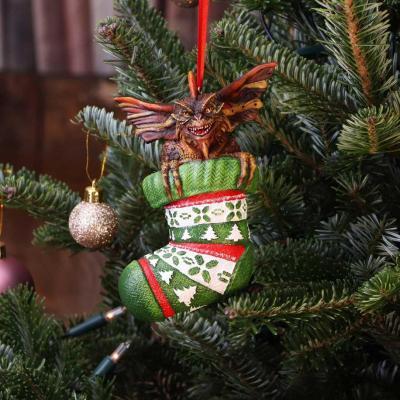Gremlins santa mohawk chaussette decoration de noel 12cm