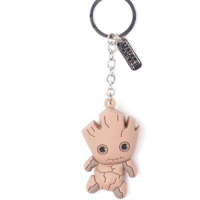 Guardians of the galaxy rubber 3d keychain groot
