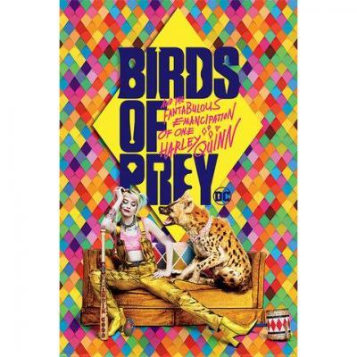 Harley quinn poster 61x91 birds of prey harley s hyena