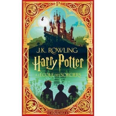 Harry potter a l ecole des sorciers illustration par minalima