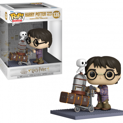 Harry potter anniversary pop deluxe n 135 harry pushing trolley
