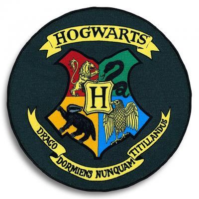 Harry potter armoiries de poudlard tapis 100x100cm