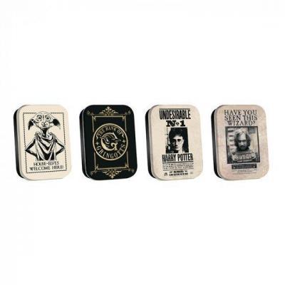 Harry potter artefacts de poudlard set de 4 mini boites
