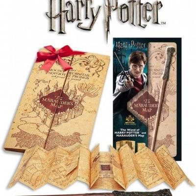 Harry potter baguette d harry carte du maraudeur