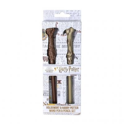 Harry potter baguette d harry de voldemort set de 2 stylos
