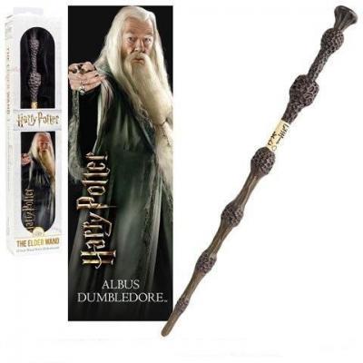 Harry potter baguette pvc dumbledore 30cm marque page 3d
