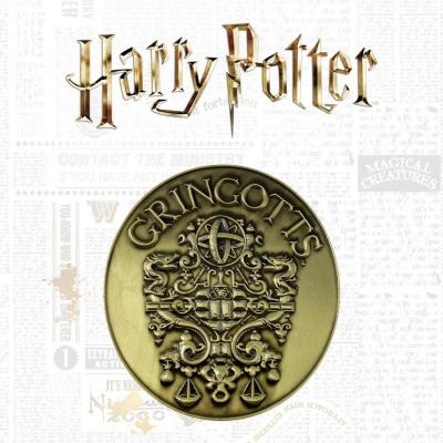 Harry potter banque de gringotts medaillon edition limitee