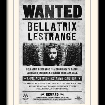 Harry potter bellatrix wanted impression encadree 30x40